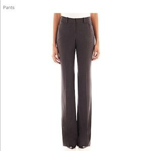 Chocolate brown modern fit trouser leg pants.
